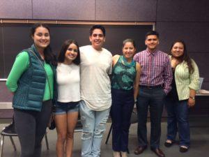Alumni Celeste Vazquez, Corrina Castro, Benjamin Duarte, Joanna Marrufo, Mario Gonzalez and Maria Hernandez