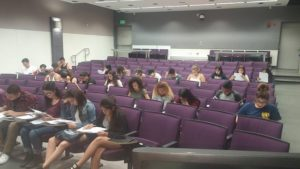 Scholars practice calculating their financial aid awards