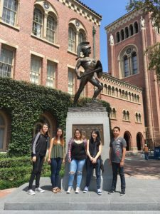 Ukiah cohort tours USC's campus
